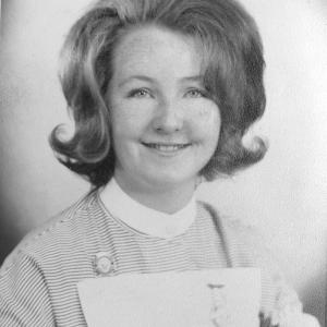 Gwen Crossley as a student nurse in 1964
