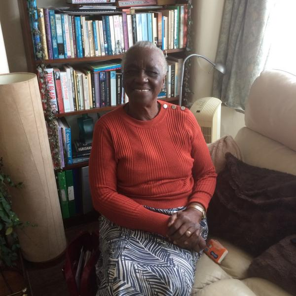 Elaine Unegbu at her home on the day of interview