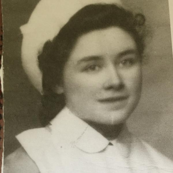 Photograph of Catalina Bateman as a student nurse aged 18 in 1941