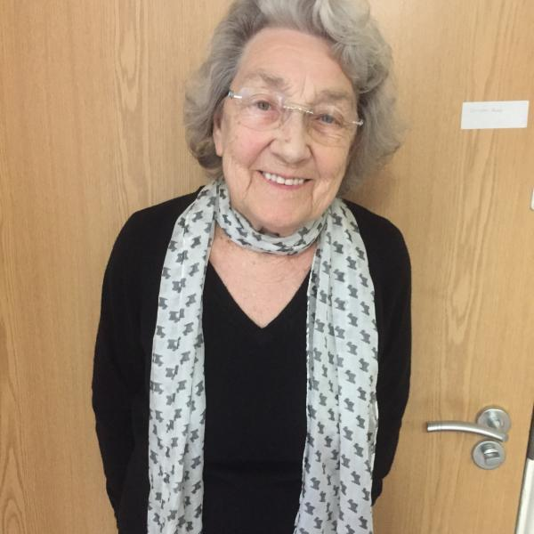 Amy Broadley taken on the day she was interviewed by NHS at 70 in April 2018