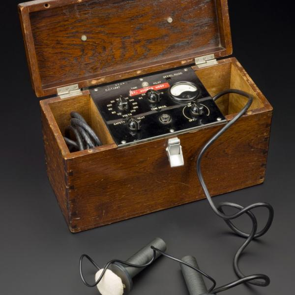 ECT (electroconvulsive therapy) machine, 1945-1960: first developed in Italy in 1938.