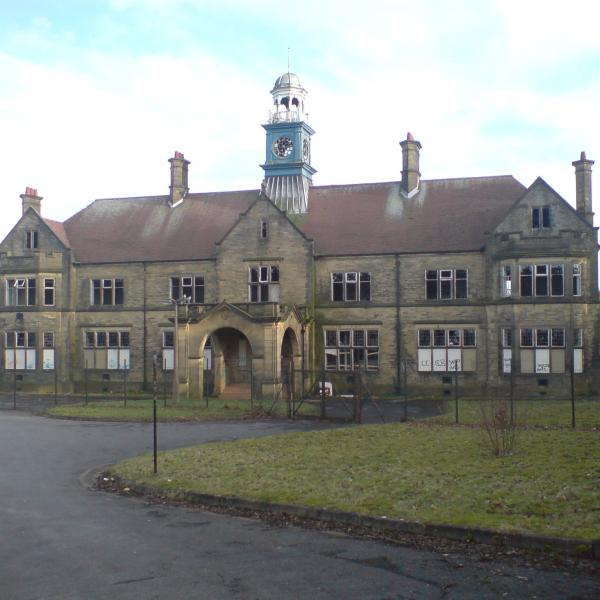 Storthes Hall in disrepair