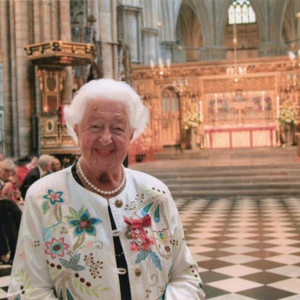 Ethel Armstrong pictured at Westminster Abbey, 5th July 2018