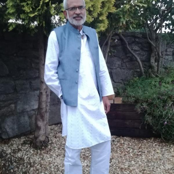 Rajan Madhok pictured outside in June 2020