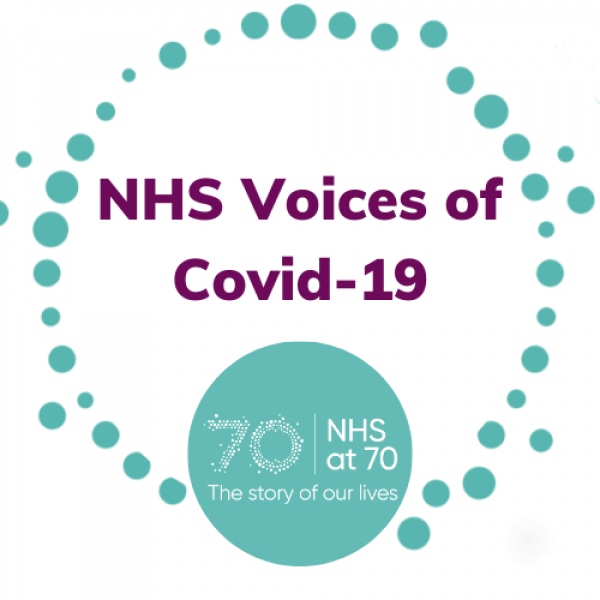 Logo image: reads NHS Voices of Covid